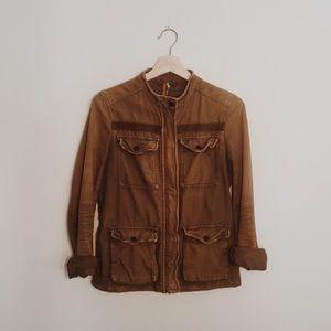 FREE PEOPLE Rumbled Army Jacket Size XS